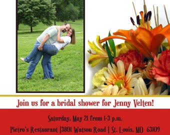 "Bridal Shower Invitation ""Bouquet of Love"""