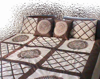 Hippie Mandala bedding-Brown Quilt-Queen Duvet Cover-Christmas Blankets And Throw