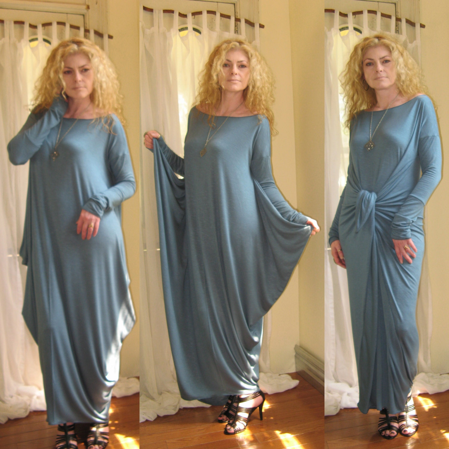 Diy maxi dress with sleeves