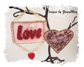 "Signs of the Season ""Love"" Ornaments, Beading Tutorial in PDF"