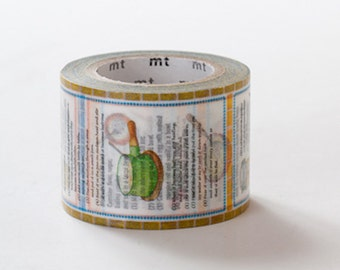 MT ex 2013 S/S - Japanese Washi Masking Tape - Recipe (Used to be Limited Edition)