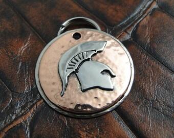 Dog ID Tag Spartan Helmet-Custom Dog Tag-Pet ID Tag-Handmade Dog Collar ID Tag-Spartan Helmet Dog Tag