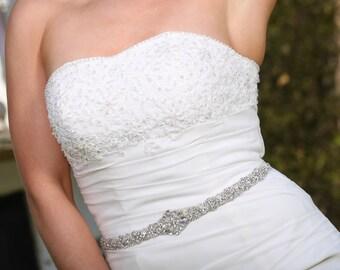 Vlasta Bridal Dress Gown Beaded Jeweled Crystal Belt Sash