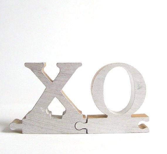 Silver Letters Home Decor: Vintage Metal Letter Sign Xo Home Decor Word By