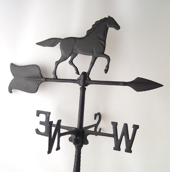 Vintage Weather Vane: Vintage Horse Weathervane Black Metal Weather Vane Retro
