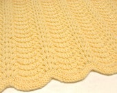 Knit Baby Blanket Yellow Hand Knitted Baby Afghan Blanket Newborn Boy Girl Infant