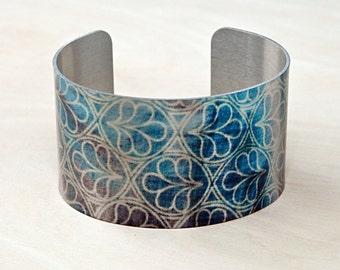 Bloom - Aluminum Cuff Bracelet - Photography - Handmade - Unique Gift - Wearable Art!