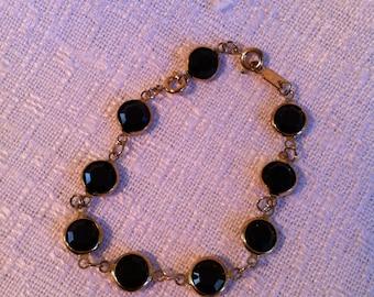FREE SHIPPING to USA - Black Swarovski Crystal Bracelet