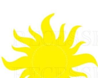 Large sunburst PDF for Rapunzel Tangled lantern decorations or iron on