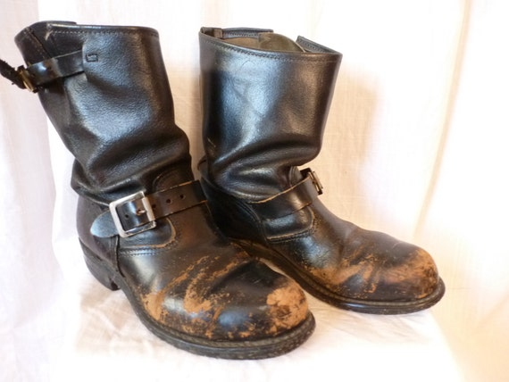 Worn Motorcycle Boots Harley Indian Brando