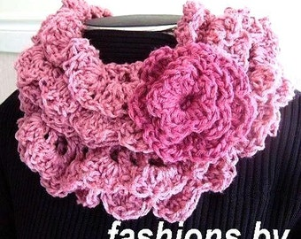 Crochet Pattern, scarf or cowl,- PRINCESS scarf, num. 76 cowl,  OR Shawl,. Super easy, instant download