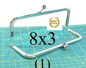 8x3 Nickel-free purse frame(TM) with kisslock