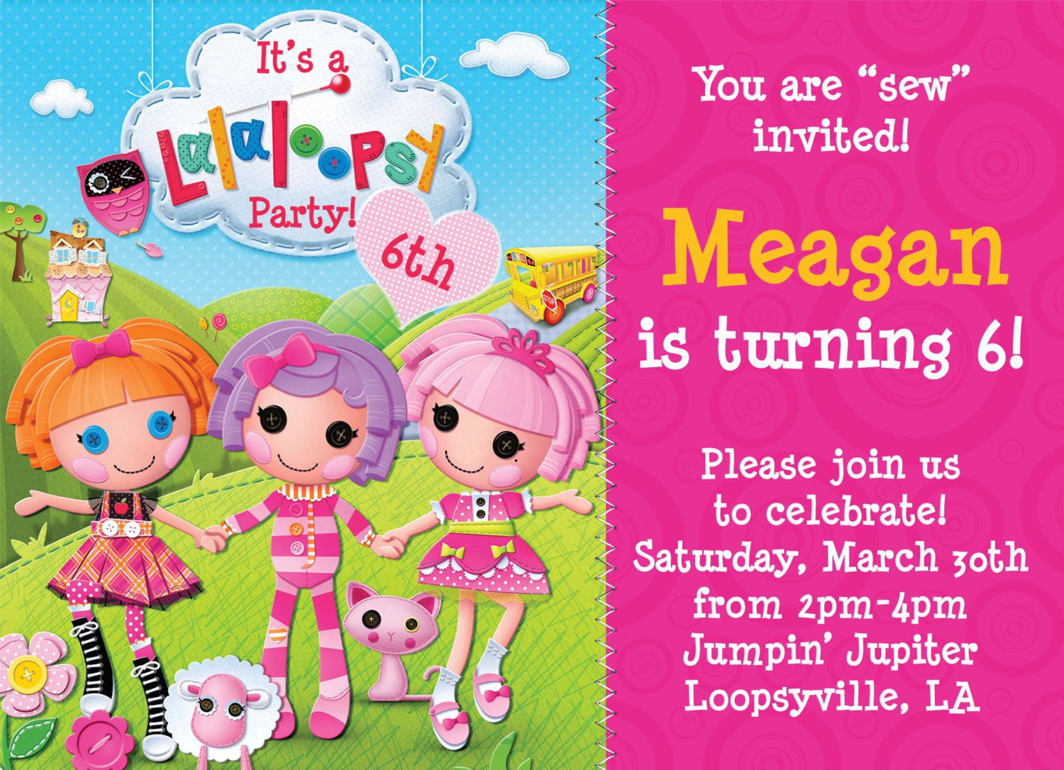 40th Birthday Ideas: Lalaloopsy Birthday Invitation Templates
