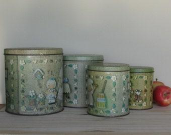 vintage canister set - 1970s