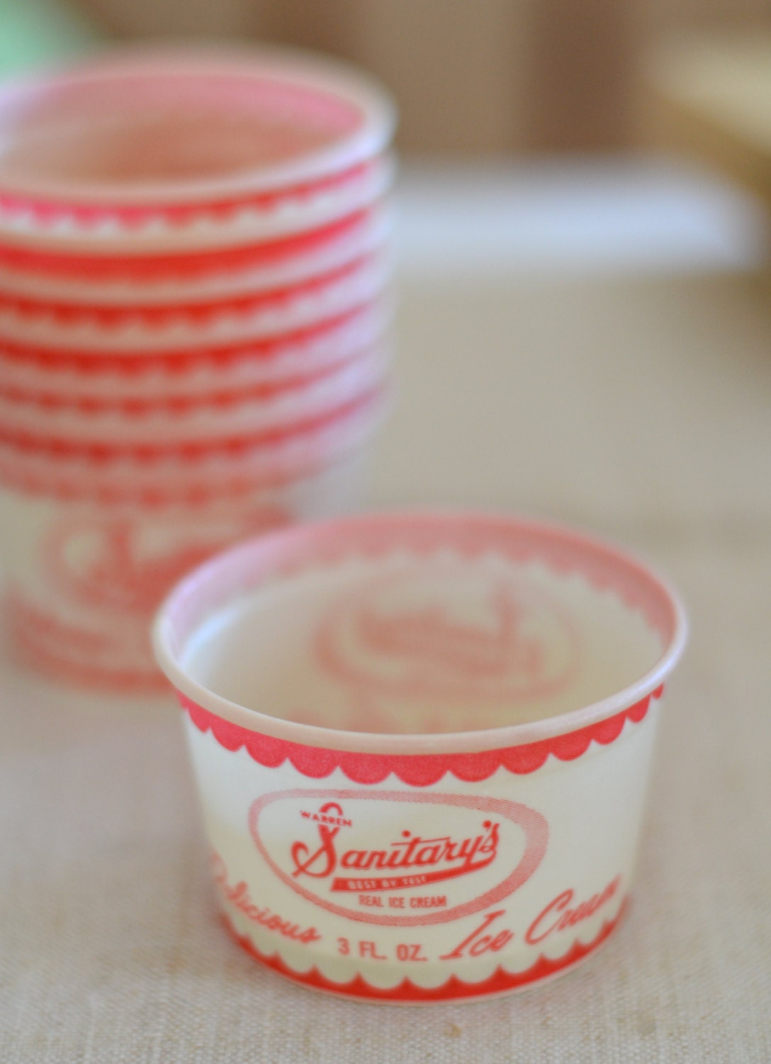 ice cream cups vintage cups 30318