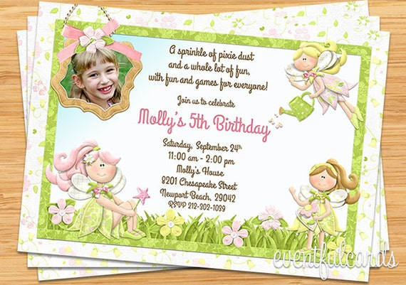 product search: girl birthday,fairy | catch my party, Invitation templates