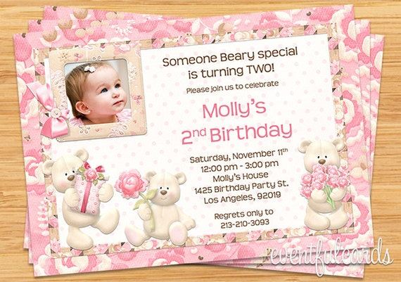 Teddy bear birthday party invitation printable by eventfulcards il570xn filmwisefo