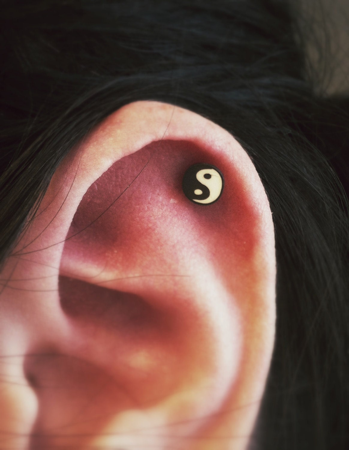 Yin Yang Zen Style Surgical Steel Stud Earring. Perfect for
