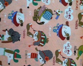 Critter Hat Lover Fabric 1 Yard
