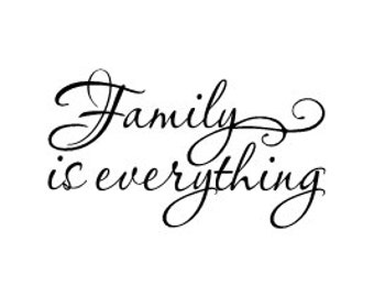 family is everything wall vinyl decal. Black Bedroom Furniture Sets. Home Design Ideas
