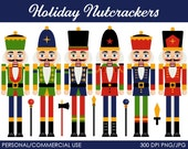 Holiday Nutcrackers Clipart - Digital Clip Art Graphics for Personal or Commercial Use