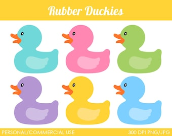 Rubber Duckies Clipart - Digital Clip Art Graphics for Personal or Commercial Use