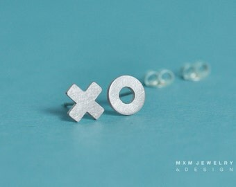 X O (Kiss and Hug) Stud Earrings