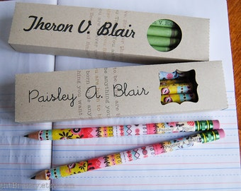 My first pencils, 8 personalized pencils for small hands by RightBrainy