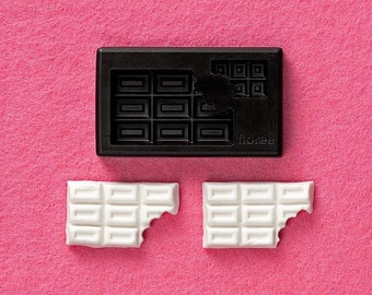 One large chocolate bar mould / mold. Floree miniature food moulds / mold. Chocolate bars. 2 bars in one mold