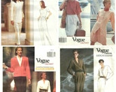 LOT of 4 VOGUE american designer patterns - Anne Klein.-