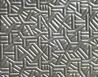 Nickel Silver Textured Metal Sheet Crazy Weave Pattern 20g - 6 1/8 x 2 1/8 inches  Bracelets Pendants Metalwork