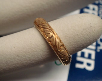Vintage 1950's to 1960's  Wedding/ Engagement Ring in 18k Gold Band Classic design