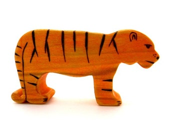 tiger wooden toy waldorf animal toys eco friendly