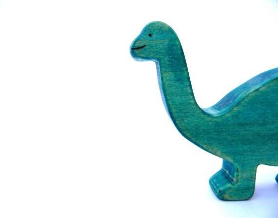 wooden brontosaurus