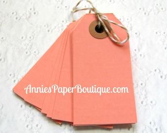 25 Small Parcel Tags - Pink - Hang Tag, Shipping, Gift
