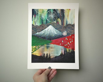 Destiny // 8.5 x 11 eco-friendly wall art mountain print