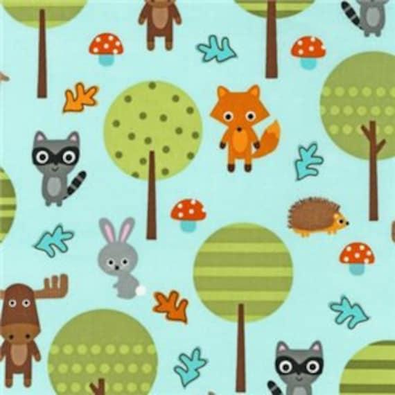 Woodland Pals by Ann Kelle for Robert Kaufman Fabrics- Woodland Friends Nature (AAK-13764-268 NATURE)