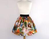 On Sale Aline Skirt  Rockabilly  Mexican Senoritas Skirt