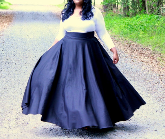 incredible long skirt outfit for chubby 2
