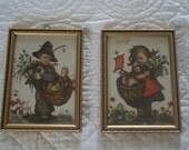 Two Vintage Framed Hummel Prints from West Germany