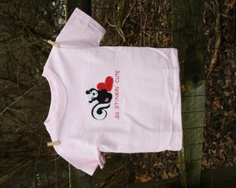 """Valentine's Day """"So STINKIN Cute"""" T-shirt or baby bodysuit, perfect for 1st Valentine's Day Pics"""