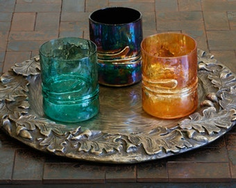 Blown Glass Tumblers - Art for Entertaining