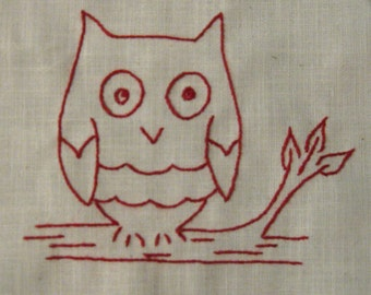 Redwork Owl Video Class and Kit
