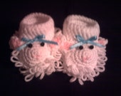 Lamb Baby Booties     Size 0-3 months