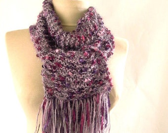 Purple Women Shawl Scarf - Cowl Scarf - asuhan