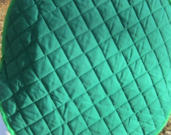 Quilted Steering Wheel Cover, Sun Shade for Car, Gift for Mom, Protective Cover for Sun Damage, No More Hot Hands, Green Cover