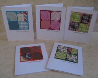 Just Because Note Cards - Set of 5