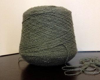 SALE WAS 19.95. Italian  Green Wool Blend Yarn. Olive , Moss Green.  2 pounds 2 ounces.