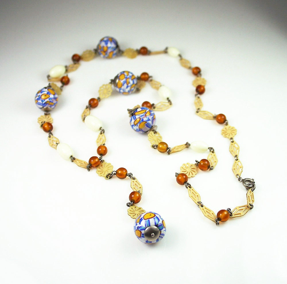 Deco End Of Day Glass Beads