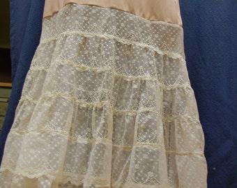 Beige/ cream petticoat slip under layer